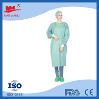high quality disposable spunlace surgical gown knit cuffs