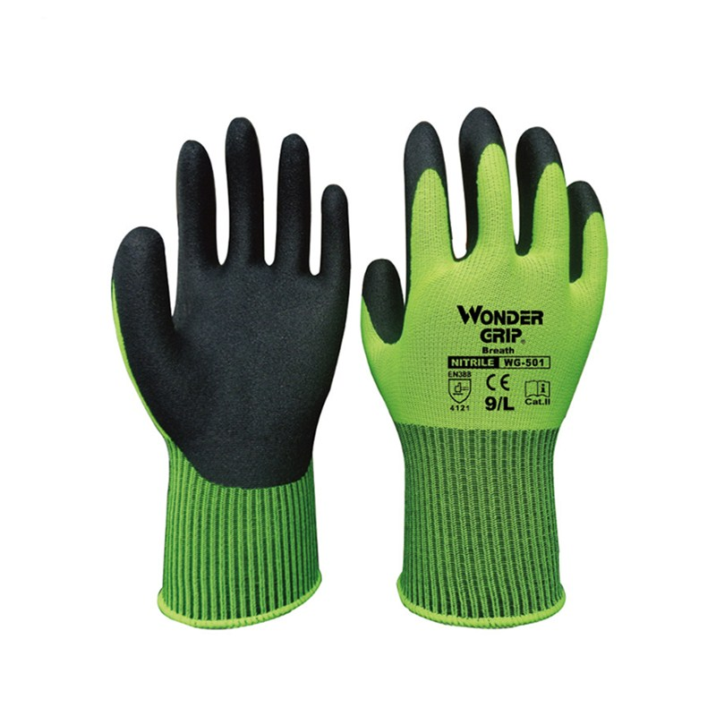 Morewin Custom Anti-oil Water Proof Work Nylon Garden Safety <strong>Gloves</strong>