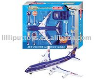 Die-cast plane,pull back aviation set