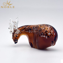 Customized Exquisite Sika Deer Hand Blown Glass Crafts