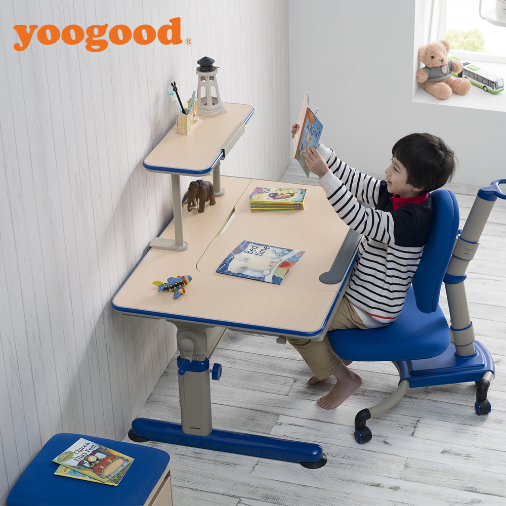 Plain Adjustable Height Kids Desk And Chair For Study Throughout Decor