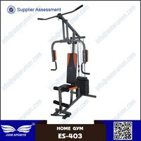 One Station Home GYM Workout Fitness Exercise Equipment with Pulley Cable System