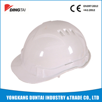 PE safety helmet with chin strap