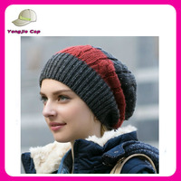 high quality winter teenagers knitted beanie hats 100 acrylic crochet beanie cap