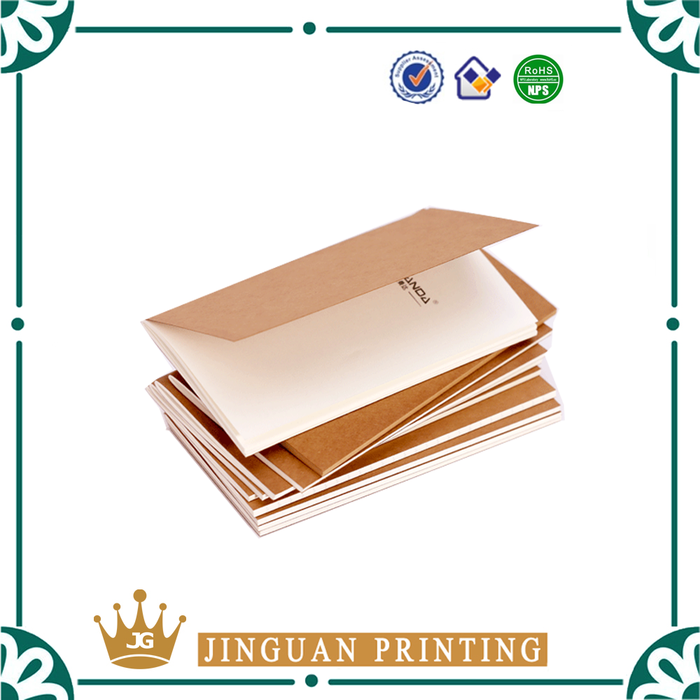 2016 High quality OEM production customized printed kraft journals