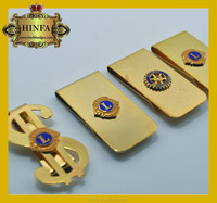 china craft factory customize logo gold money clip