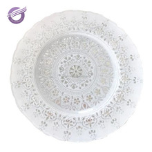 PZ00900 wholesale Plastic Material Dishes & Plates Dinnerware Type plastic charger plates