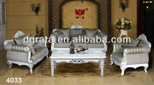 2013 newest silver color sofas was made from top jacquard fabric and oak solid wood frame with carved