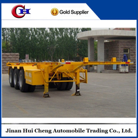 Widely Used Skeleton Semi Trailer with 3 Axle Skeletal Frame