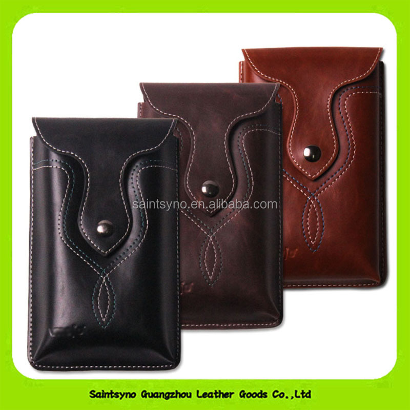 Wholesale Funky Italian Leather Two Mobile Phone Flip Case 16175