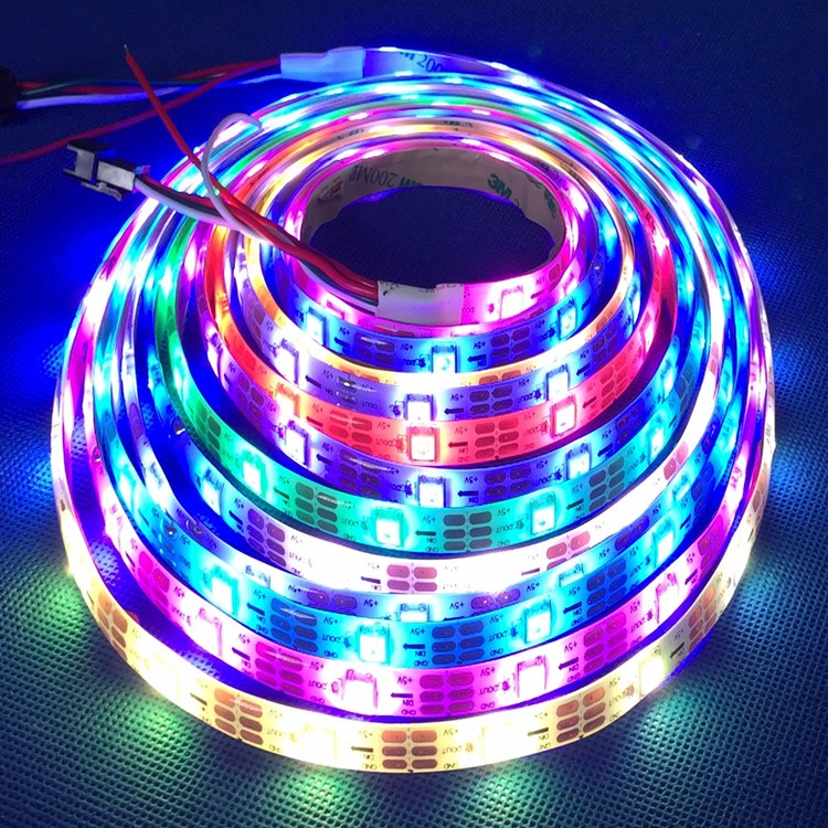 High quality full color 5050 SMD RGB led strip with 60leds/m DC12V 24V back light
