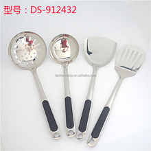 4pcs/set newly design plastic handle stainless steel kitchen utensils
