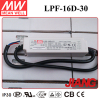 16W 30V LED Dimmable Driver LPF-16D-30 Meanwell LED Driver IP67 With PFC Function