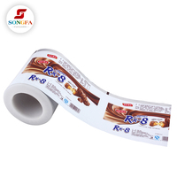sachet printing plastic food packaging laminated roll film for sanck packaging