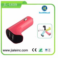 12V, 3.1A 2 port usb car charger /adapter with CE approval car charger