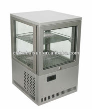 Counter top Four sided glass show case cooler display ,dessert,sandwich display/bakery showcase cooler BR38