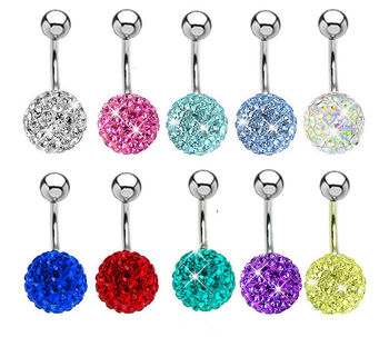surgical steel magnetic body piercing multi-color ferido belly button stud