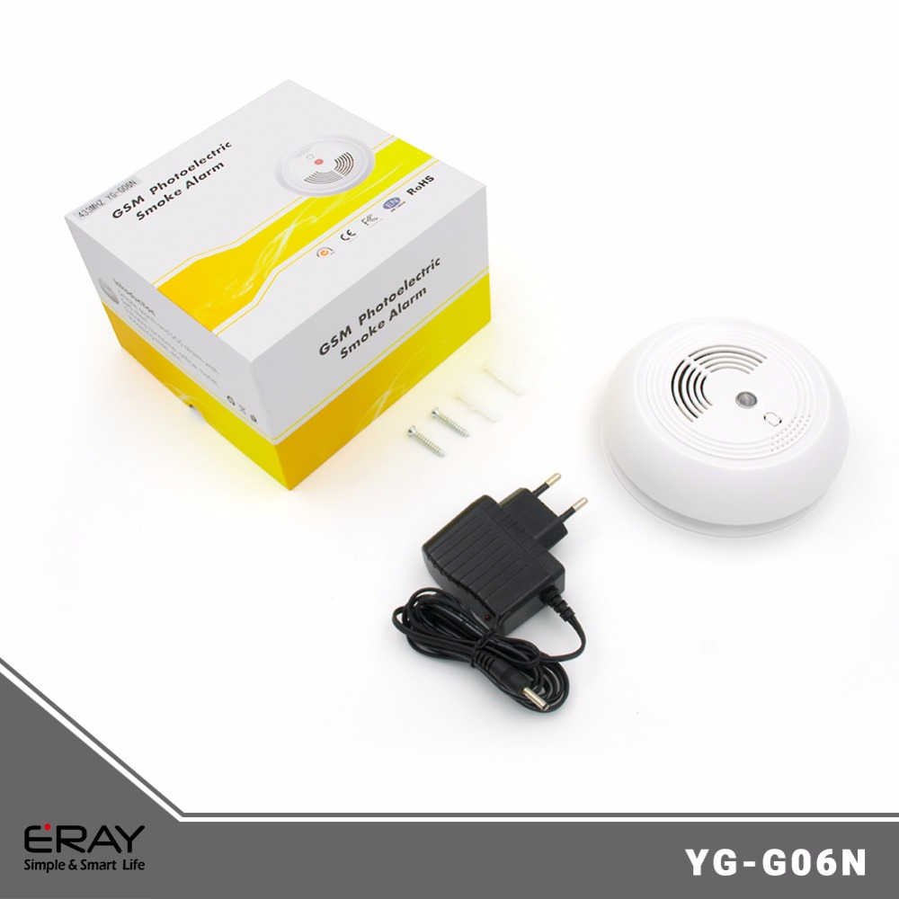 High sensitivity! GSM smoke and heat detector alarm fire alarm(YG-G06)