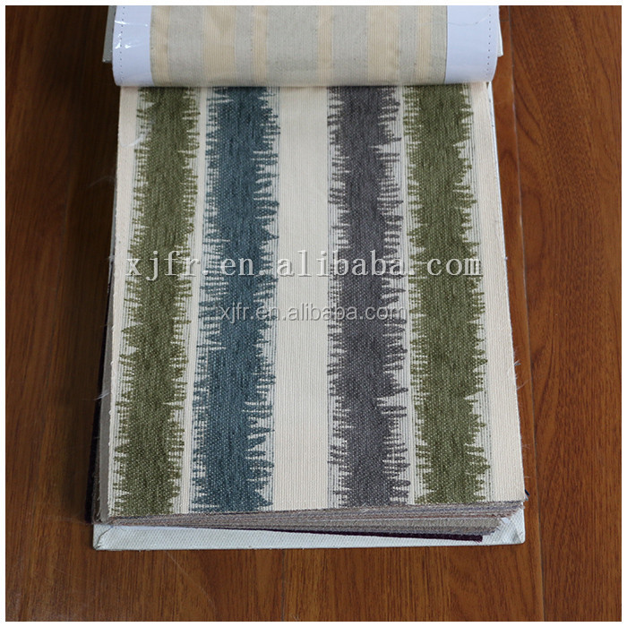 Alibaba Cheap Wholesale 100% Polyester stripe Chenille Fabric for Sofa and curtains and bedding cover