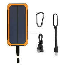 TOP Solar Power Bank Travel Power Bank 10000mAh External Battery Portable Charger Bateria Externa Pack for Smartphone
