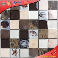 Hyc17 Building Material Irregular Shape Tile Parquet Glass Mosaic Garden Paving Tiles