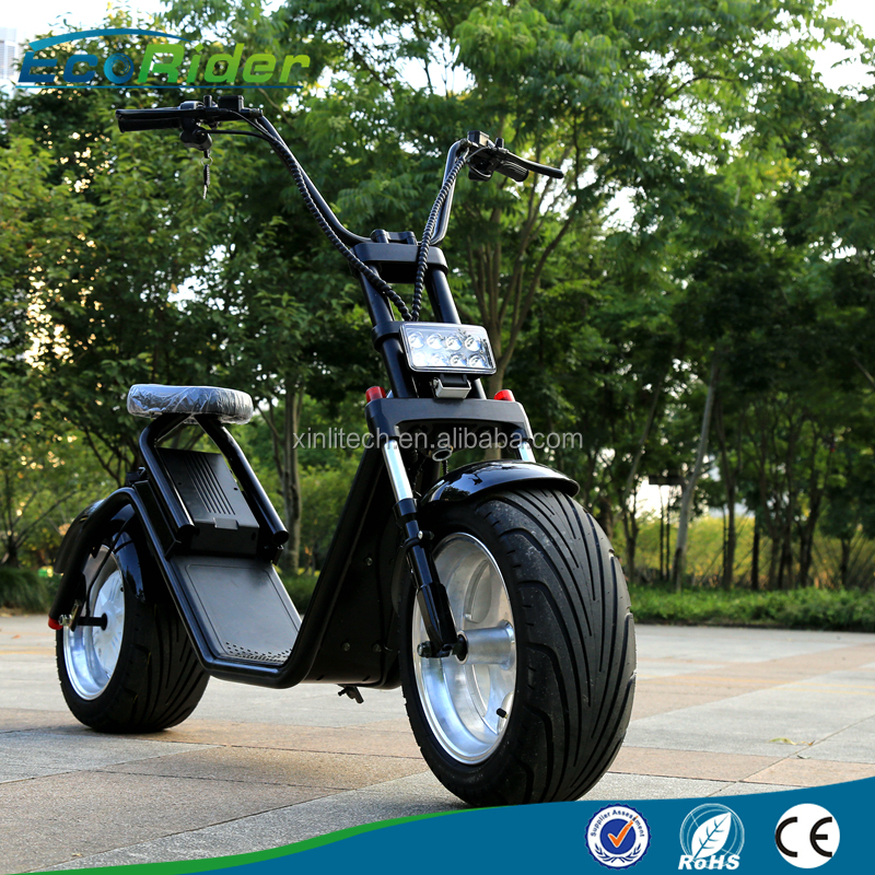 EcoRider newest design 1000w electric harley scooter citycoco scooter electric personal transport vehicle with big wheels