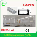 Top quality linear flat wide aluminum led profile with led strip for cabinet decoration alibaba express