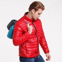 <strong>men's</strong> 90% duck down <strong>jacket</strong> Ultra Light Down <strong>Jacket</strong> winter coat constrasting zipper MDJ9923