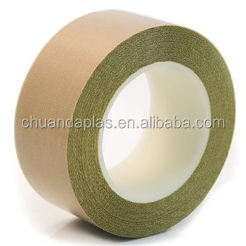 China Manufacturer PTFE Fiberglass insulation adhesive tape with ROHS certificate
