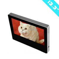 "13.3"" lcd monitor usb media player for advertising hot video player"