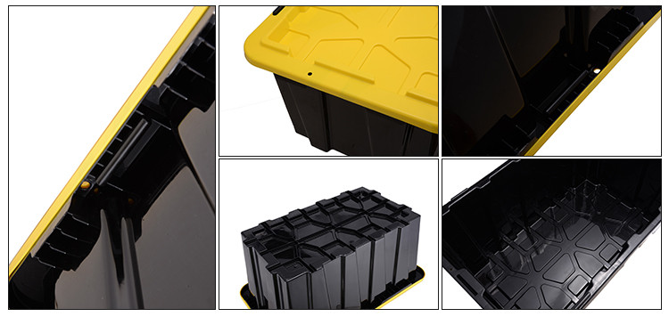 Wholesale customized 25-155L heavy duty plastic box storage