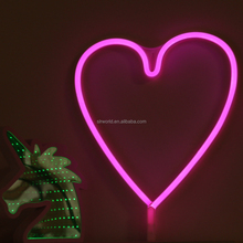 Wholesale Battery Powered High Quality Heart Shaped Led neon Lights led neon flex sign
