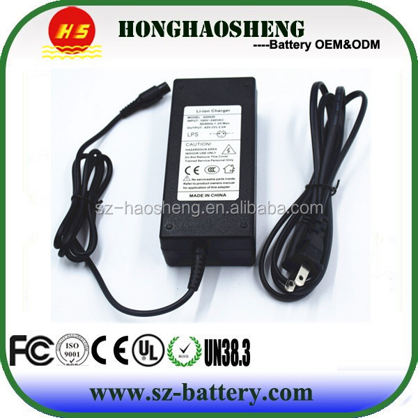 Universal smart 36v electric bike battery charger for ebike or scooter