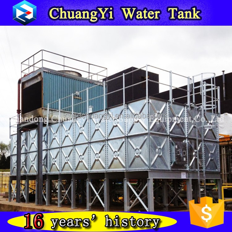 Excellent quality galvanized storage water tank,steel tower water storage tank,steel frame water tower