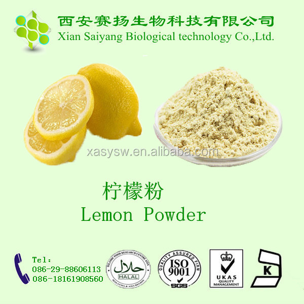 100% water soluble natural organic lemon juice powder bottled lemon juice