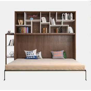 China factory made double decker hidden wall bed folding bed functional bedroom furniture