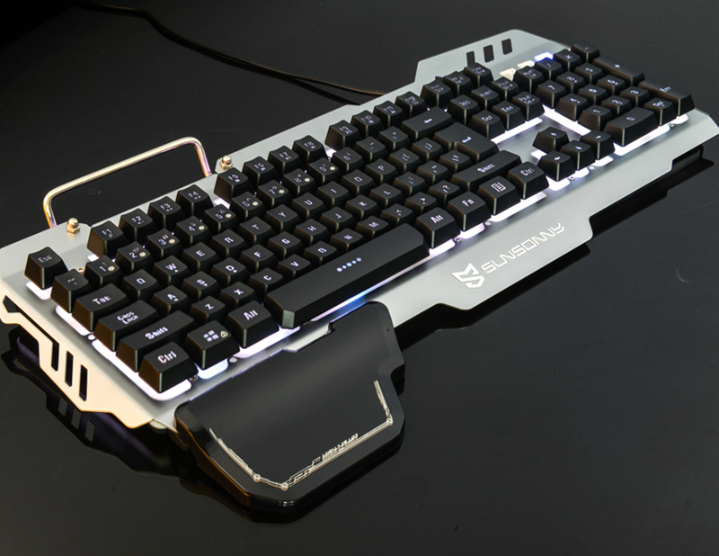 New S-<strong>K10</strong> game colorful Backlit Splashes Wired PC gaming keyboard