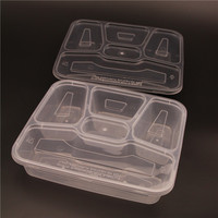biodegradable disposable tableware 5 compartments food container