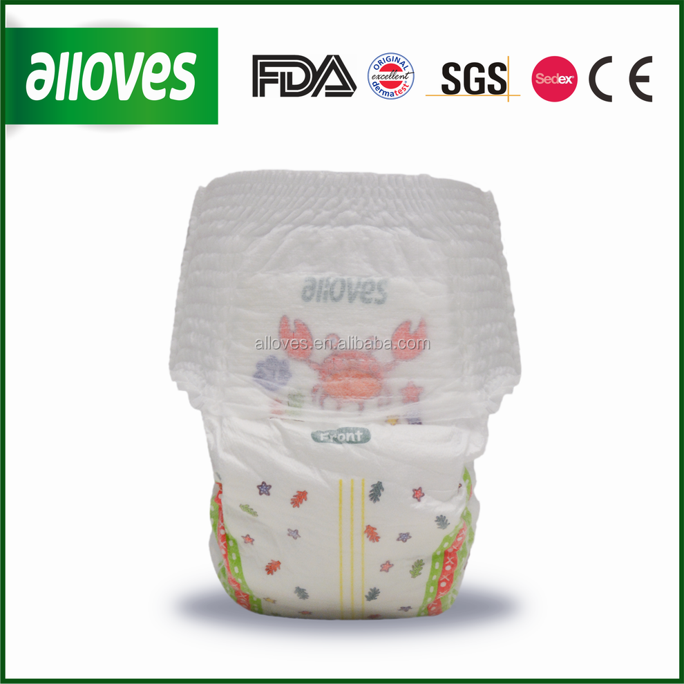 Alloves baby pampering/baby diapers/training pant by china