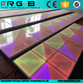 1M by 1M white LED dance floor with ray effect