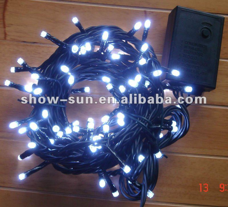 100 LED 8-Function String Christmas Light White