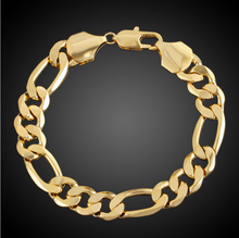 ATHENAA Unique Figaro Chain Design Fashion Bracelet Hand Chain for Men