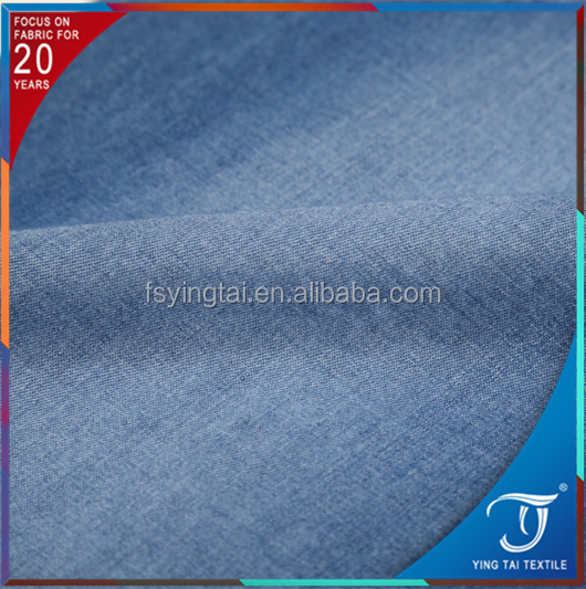 Professional factory 32*32s cotton 100 jacquard dobby denim fabric