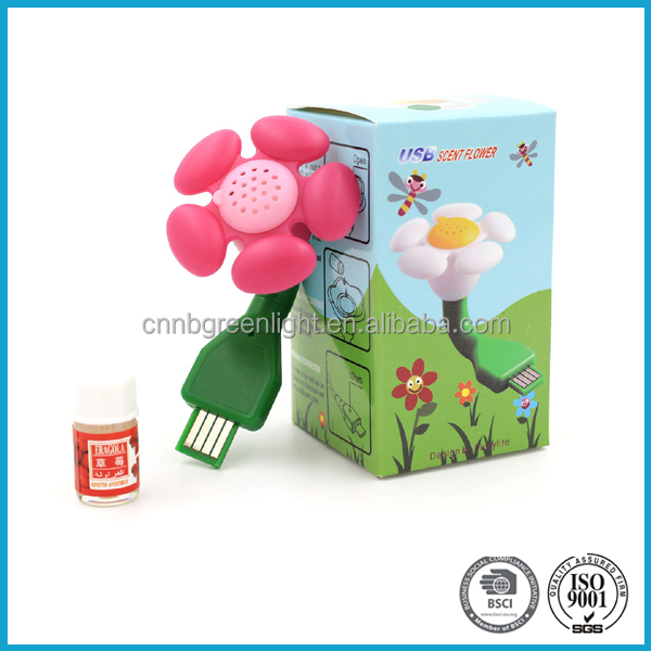 Mini flower shape USB air freshener