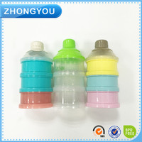 BPA free 3-layers muntifunctional baby powder milk container plastic baby milk powder box