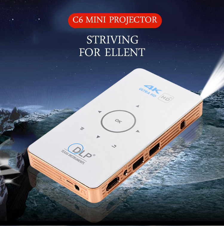 China Supplier S905 C6 Projector 1GB 8GB with certificate Android 5.1 projector