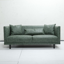 Simple modern chesterfield pu leather sofa sale dubai