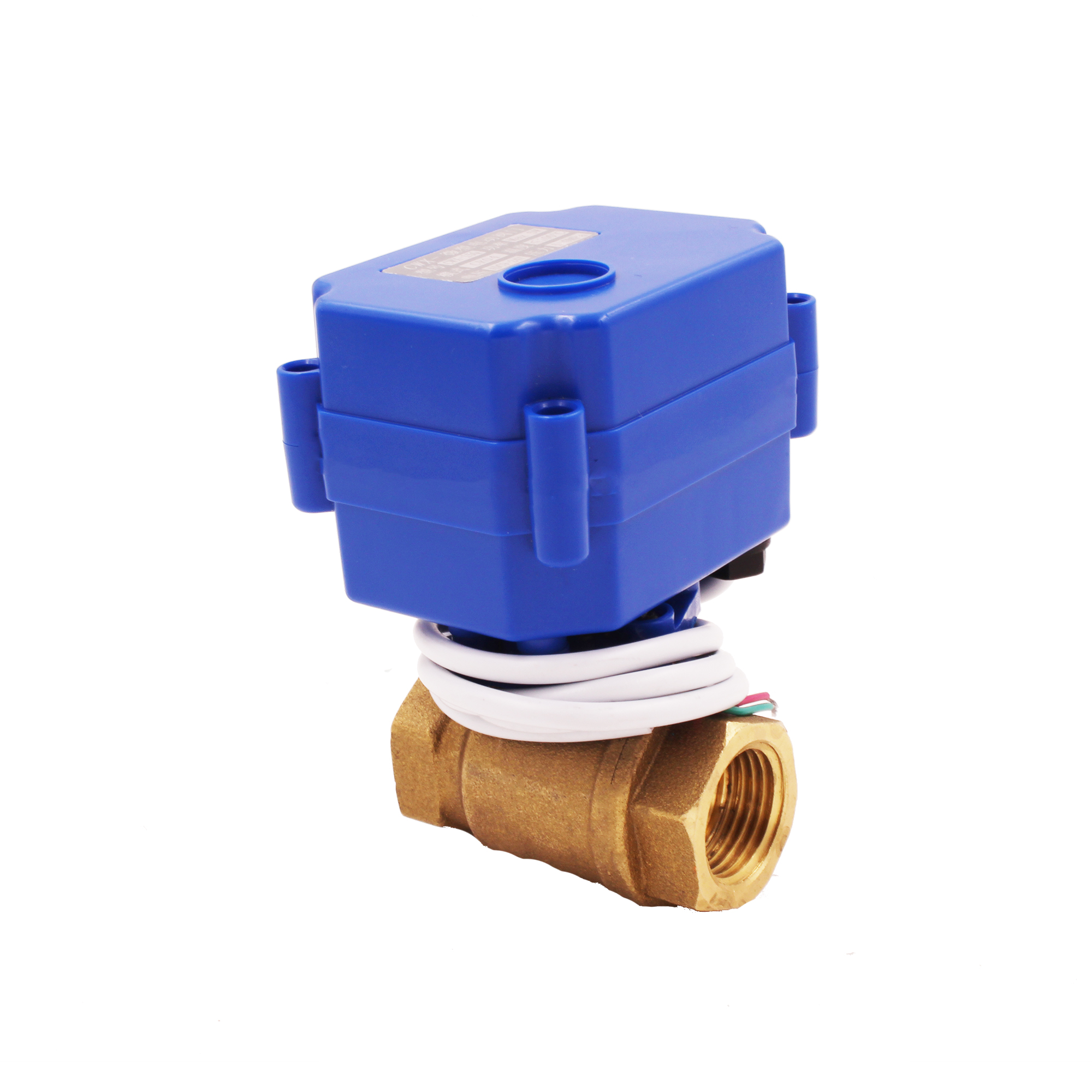 CWX-15 Q/N motor actuator Torqur 2NM Full port 2 way mini electric ball valve for water treatment. smart watermeter,water filter