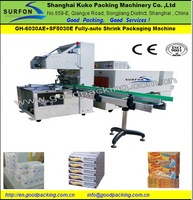 PE Film Shrink Wrapping Machine Glass Vases With Trays on Euro Pallet