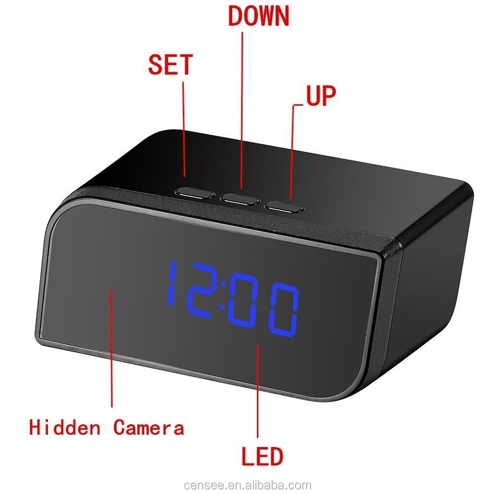 Uninterruptible long-time work and remote control CCTV Full HD Clock Camera Hidden